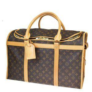 LOUIS VUITTON Sac Chien 50 Pet Carrier Hand Bag Mo